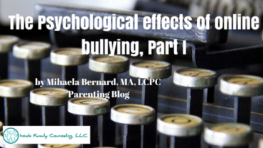 The psychological effects of online bullying, Part I
